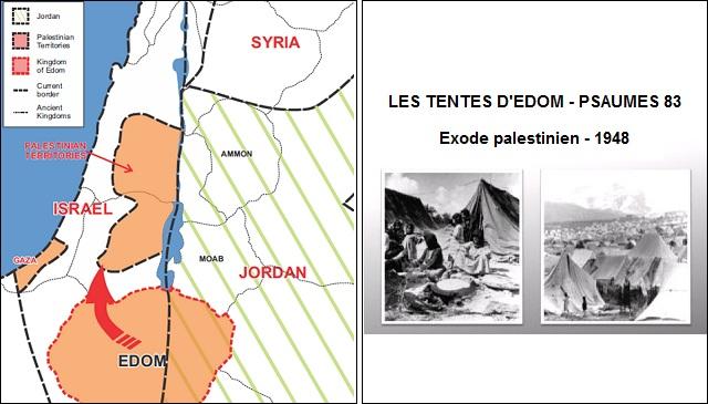 GÉOPOLITIQUE BIBLIQUE : ÉDOM NE REPRÉSENTE PAS L'OCCIDENT. ÉDOM = PEUPLE JORDANO-PALESTINIEN