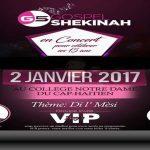 HAITI : CONCERT GOSPEL, «GS» Gospel Shekinah en concert Le 2 Janvier 2017