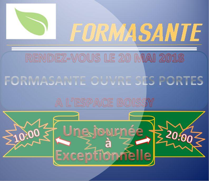 Santé : Évènements le 20 mai 2018 FormaSanté ouvre ses portes  à l'espace  Boissy